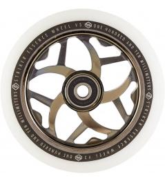 Rueda Striker Essence V3 Blanco 110mm Negro Metalizado