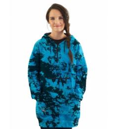 Mikina Horsefeathers Alita blue tie dye 2021 dámská vell.XS