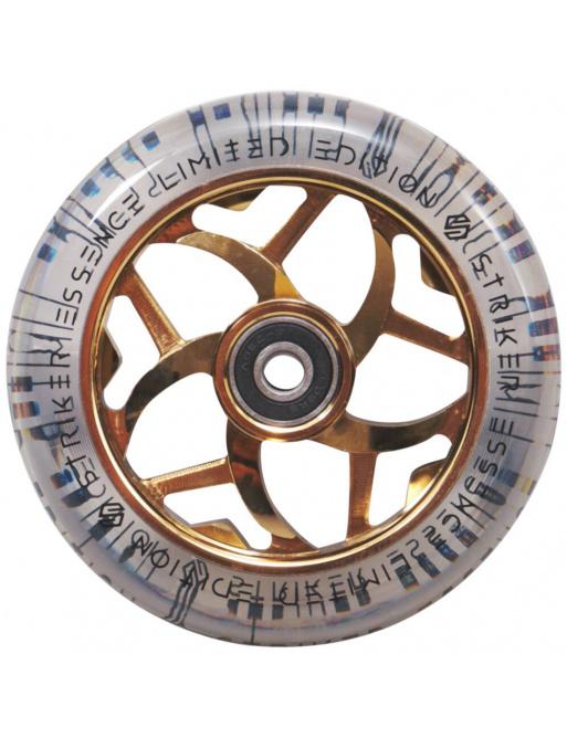 Wheel Striker Essence V3 Transparente 110 mm Oro Cromado