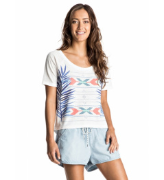 Camiseta Roxy Fashion Friend Palm Fever 862 wbt0 marshmellow 2017 mujer vell.M