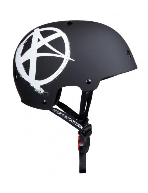 Casco Addict Logo negro Junior