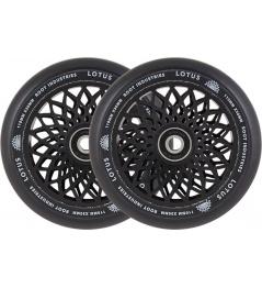 Ruedas Root Industries Lotus 110x30mm negro 2pcs