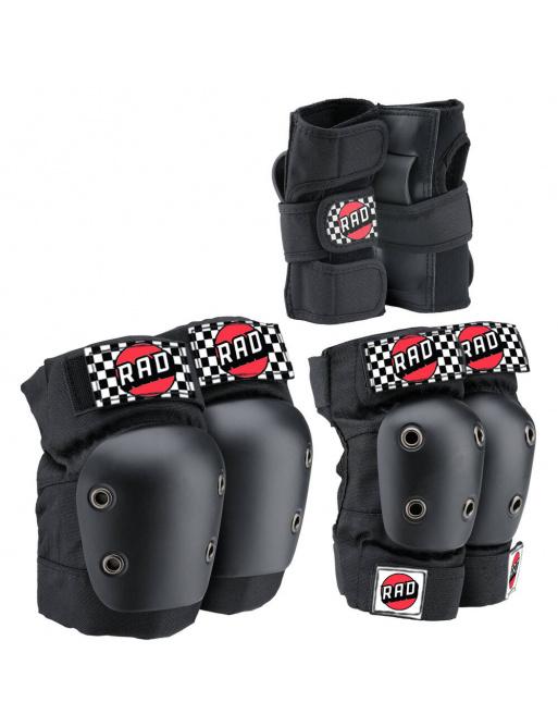 RAD Multi Ochrana Skate Pads 3-pack (S | Černá)