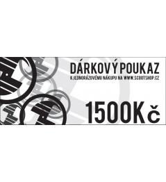 Vale de regalo por CZK 1.500