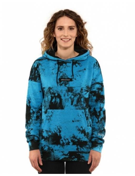 Mikina Horsefeathers Skye blue tie dye 2021 dámská vell.XL