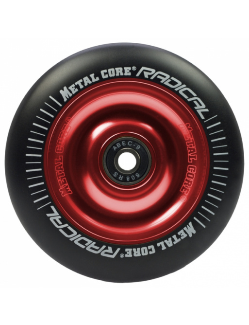 Metal Core Radical 110 mm rueda negro-rojo