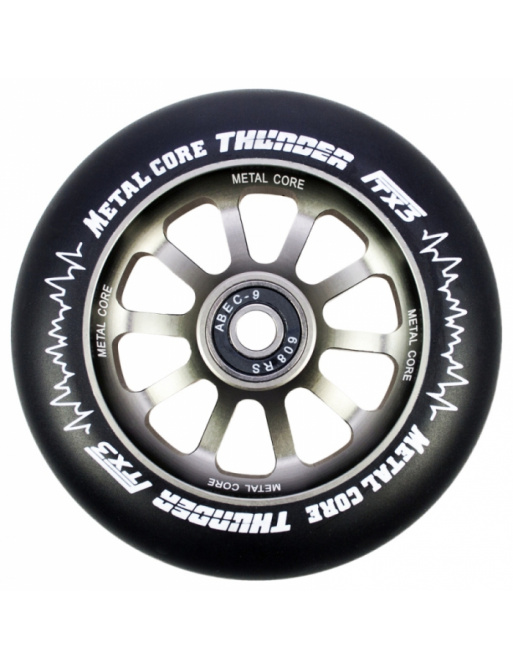 Rueda negra Metal Core Thunder 120 mm