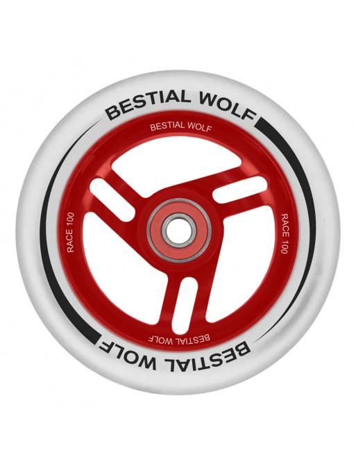 Bestial Wolf Race 100 mm blanco rueda blanca