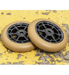 Ruedas UrbanArtt Civic 110x24mm Negro / Azul goma 2pcs