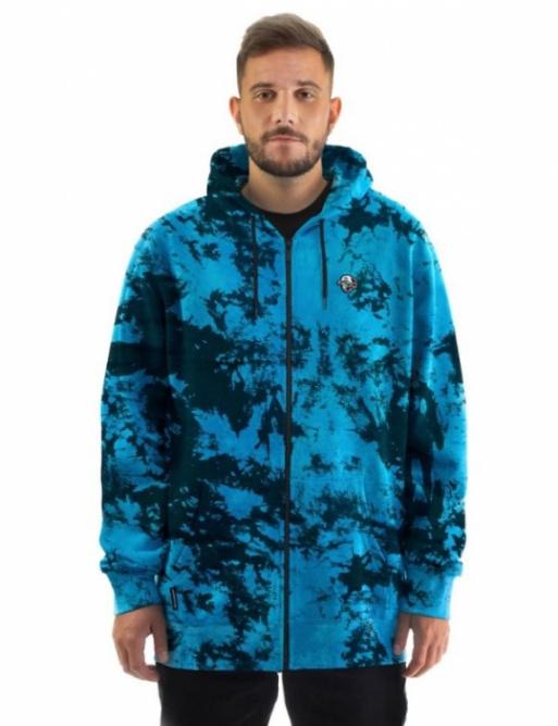 Mikina Horsefeathers Joshua blue tie dye 2021 vell.XXL