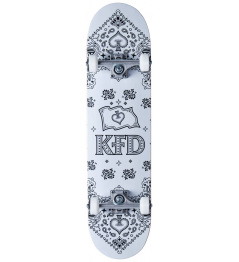 """Skateboard KFD Bandana Set 8 """"Blanco"""