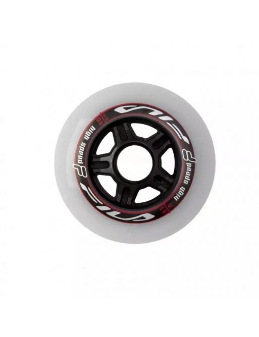 Kolečka Fila Wheels Set White/Red (6ks)