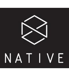 Adhesivo Native Logo negro