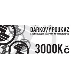 Vale de regalo por valor de 3000 CZK