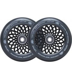 Ruedas Root Lotus 110x24mm Negro / Negro 2pcs