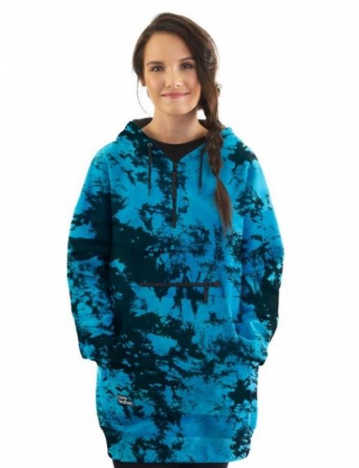 Mikina Horsefeathers Alita blue tie dye 2021 dámská vell.S
