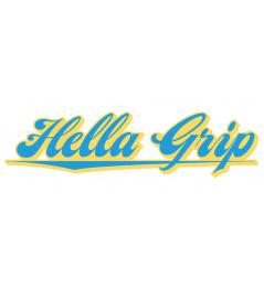 Etiqueta Engomada De La Hella Grip Logotipo