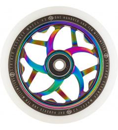 Rueda Delantera Essence V3 Blanco 110mm Arco Iris