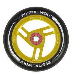 Bestial Wolf Race 100 mm círculo negro amarillo